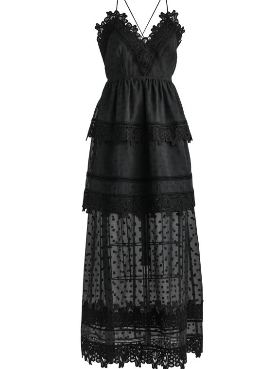 3 tier black Lace dress $175
